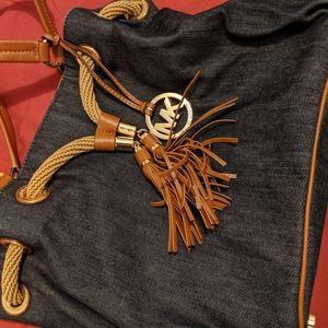 Michael Kors Marina Drawstring Denim Bag